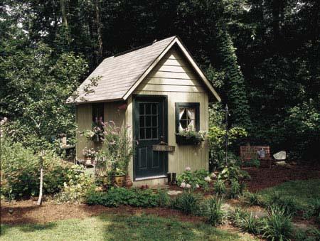 Естествено изглеждаща градинска къща