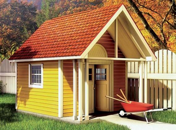 Контрастна градинска къща
