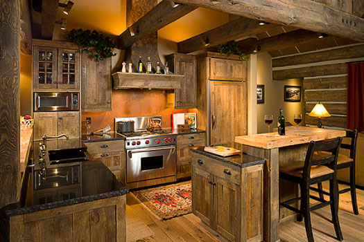 Кухня в планински стил