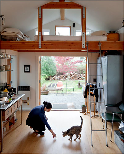 Интериор на гаража превърнат в дом