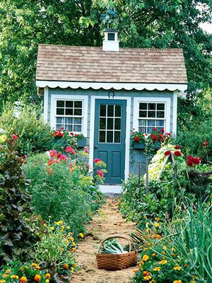 Къщичка за градинарски инструменти