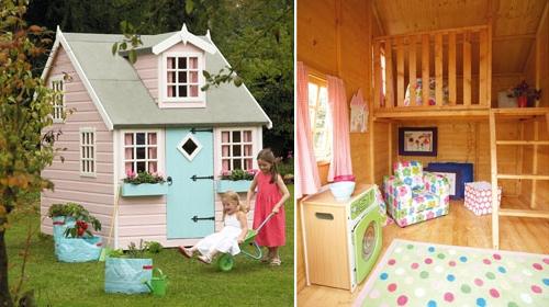 Дървена детска къща