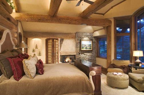 Спалня в лог къща