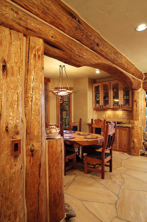 кухнята в лог къща