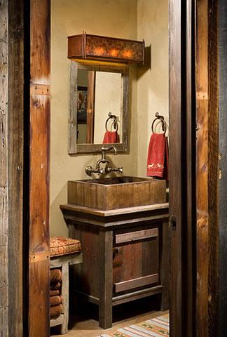Интериор на къща тип плевня - банята