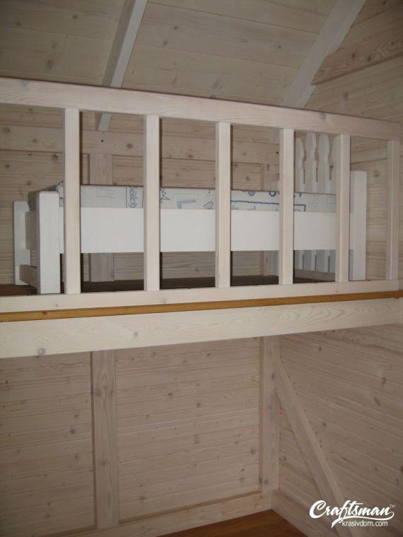 интериор на детска къщичка с детско легло