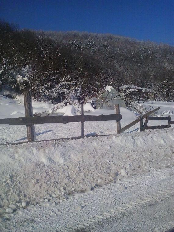 Паднала оранжерия от сняг