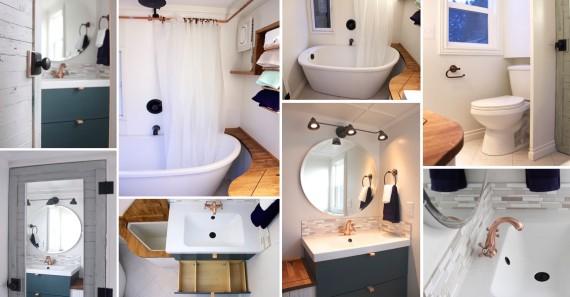 стилна малка баня